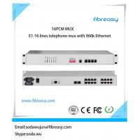 Buy cheap High performance E1 pcm mux  16Voice and 4 port  Ethernet , 4  port data fiber optical Multiplexer with network managed from wholesalers