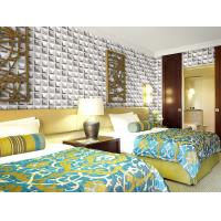 Buy cheap Colorful Graffiti Fiber 3D Wall Coverings Interior Wall Paneling 3D Tiles for KTV , Club , Hotel product