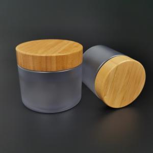 Buy cheap Bamboo Lid PET Serum Empty Makeup Jars 250g Cosmetic Packaging product