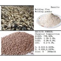 Buy cheap Bauxite powder for the raw materials of welding flux from wholesalers