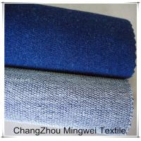 Quality middle indigo french terry fabric/ knit denim for jeans for sale