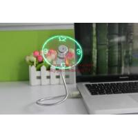 Buy cheap New Durable Adjustable USB Gadget Mini Flexible LED Light USB Fan Time Clock Desktop Clock Cool Gadget Time Display from wholesalers