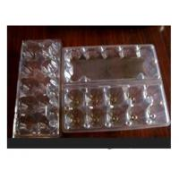 Buy cheap 10 Cavities Clear Plastic Egg Cartons , Disposable Food Containers from wholesalers