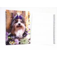 Buy cheap A4,A5,A6 size 3D Lenticular notebook cover for spiral notebook from wholesalers