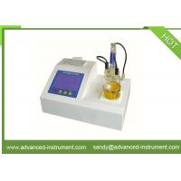 Buy cheap ASTM D6304 Lubricant Oil Coulometric Karl Fischer Titrator Water Content Tester from wholesalers