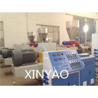 Buy cheap SJZ80 Conical double screw PVC Pipe Extrusion Line , PVC twin screw extruder, from wholesalers