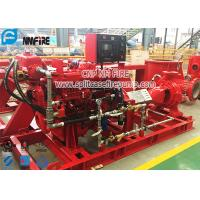 Buy cheap Red Color End Suction Diesel Powered Fire Pump Set Pressures To 225 PSI from wholesalers
