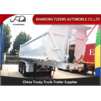 Buy cheap Steel Frame Tri Axle Dump Trailer / 25 Cubic Semi Trailer End Dump Truck  from wholesalers