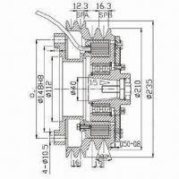 Buy cheap Electromagnetic Clutch for Bus, Truck Air Conditioner, TS 16949 Quality Control System Guaranty from wholesalers