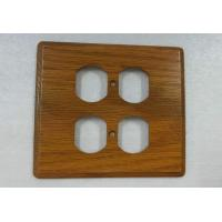 Buy cheap Rustic Electrical Wooden 4 Toggle Switch Plate Covers Flat 140 X 126 mm from wholesalers