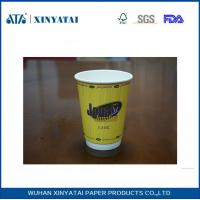 Buy cheap Fruit Juice / Beverage Custom Paper Coffee Cups , Takeaway Coffee Cups for Hot Drinks from Wholesalers