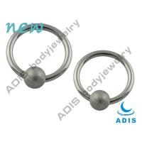 Buy cheap Steel Sandblasted Anti - Allergy BCR Ball Closure Ring With High Polishment from wholesalers