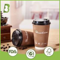 Buy cheap Disposable hot drinking 600ml double wall paper cup custom print from wholesalers