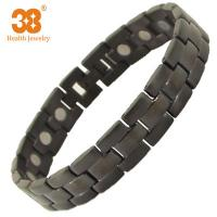 Buy cheap Excellent Material Men's Black Color Full Magnets Titanium Bracelet for Party Jewelry from wholesalers