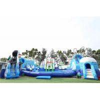 Buy cheap Adult Outdoor Inflatable Water Parks , Pool Obstacle Course Play Equipment product