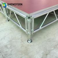 Buy cheap folding portable aluminum outdoor stage for stage event system aluminum portable stage movable stage with cheap price from wholesalers