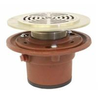 Buy cheap 1100-3TY Cast Iron Floor Drain Body with 3 Push On Outlet with Integral clamping Collar and 1/2 Trap Primer Tapping from wholesalers