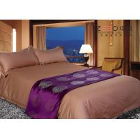 Buy cheap Hotel Grade Bed Linen Brown , Hotel Collection Linen Easy Maintenance from wholesalers