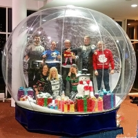 Buy cheap Advertising Inflatable Snow Dome Human Size Inflatable Snow Globes For Christmas Decoration from wholesalers
