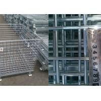 Buy cheap Customized Steel Pallet Cages / Metal Mesh Storage Containers Anti Corrosion from wholesalers