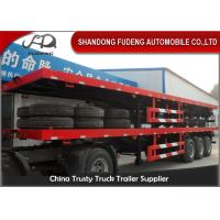 Buy cheap 40 Feet High Flatbed Container Trailer For Container / Cement Bags Transport from wholesalers