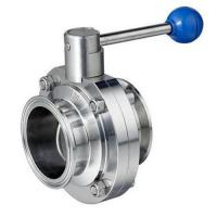 Buy cheap Quick Install Tri Clamp Butterfly Valve For Wine Industries ISO DIN BS Approved from wholesalers
