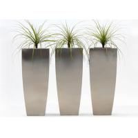 Buy cheap Vertical Brushed Metal Stainless Steel Planter Simple Design 38*38*120 Cm from wholesalers