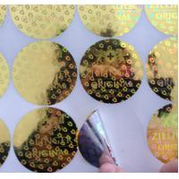 Buy cheap Custom made various size 3D gold round shape anti-fake laser hologram stickers with serial number from wholesalers