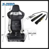 Buy cheap High Durable JDM Racing Bucket Seat , Performance Car Seats Black And White Color from wholesalers