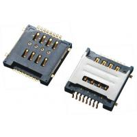 Buy cheap Double SIM Card Connector SMT 8Pins , Micro Sim Socket With Shielded Black Plastic from wholesalers