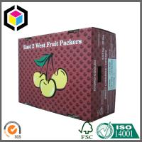 Buy cheap Full Color CMYK Printing Corrugated Fruit Box; Cherry Fruit Paper Packaging Box from wholesalers