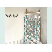 Buy cheap Handcrafted Diy Felt Ball Mobile , 100% New Zealand Wool Felt Ball Baby Mobile from wholesalers
