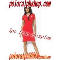 Buy cheap Hot selling Women polo dress tshirt shirt  paypal 1pc free ship outlet wholesale from wholesalers
