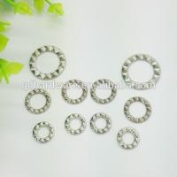 Buy cheap Washable Brass Curtain Eyelet Grommets Customized Colour , Silver Plating Surface from wholesalers