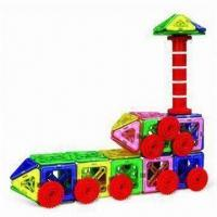 Buy cheap Magnetic Construction Toy with Rods, Sticks and Multicolor Bars, Suitable for 3 Years Old Kids product