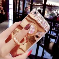 Buy cheap 3D Bling Diamond Phone Case, Apple Mirror Phone Protective case With Finger Ring Holder from wholesalers