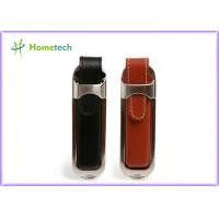 Buy cheap Personalized Leather USB Flash Drive with Customized Silk-screen Logo from wholesalers