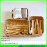 Buy cheap LUDA matural seagrass straw storage basket and box from wholesalers