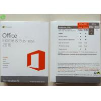 Buy cheap Microsoft Office 2016 Home And Business PKC / Retail Version / OEM COA Sticker from wholesalers