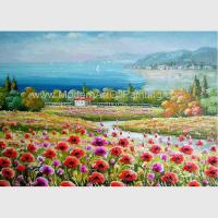 Buy cheap Decorative Red Modern Floral Paintings Canvas / Realistic Flower Landscape Paintings from wholesalers
