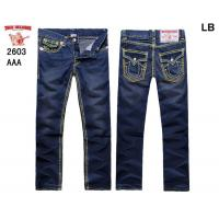 Buy cheap True Religion New Style Men's Blue Wash Straight Jeans 2603 from wholesalers