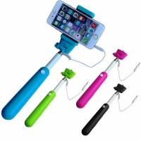 Buy cheap Charging-free extendable cables take pole selfie stick from wholesalers