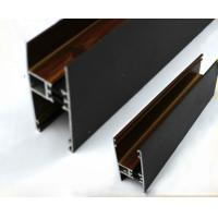 Buy cheap Square / Round Wood Finish Aluminium Profiles Black Color For Building Material from wholesalers