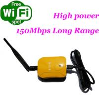 Buy cheap 1000MW 802.11N 150Mbps USB network card with RP-SMA detachable antenna with CE certification from wholesalers
