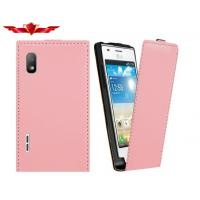 China Genuine LG E612 Optimus L5 Flip Leather Cases 100% Real Leather Good Quality on sale