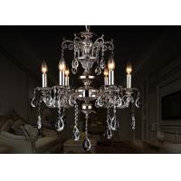 Buy cheap Black European Retro Crystal Chandelier 6 Light , Antique Traditional Glass Chandeliers from wholesalers