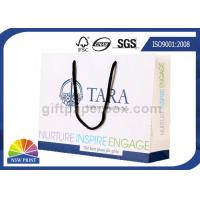 Buy cheap Fancy Personalized Printing White Paper Bags with Long Cotton String Handle from wholesalers