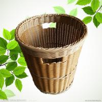 Buy cheap PP Weaving Rattan Plastic Dirty Clothes Baskets/Bins Organizer with Handles from wholesalers