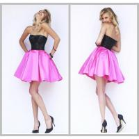 Buy cheap Black Rose Satin Strapless Prom And Homecoming Dresses Fully Rock Beaded Top from wholesalers
