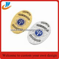 Buy cheap Custom police lapel pin,metal badge emblem with high quality plating die cast customer logo from wholesalers